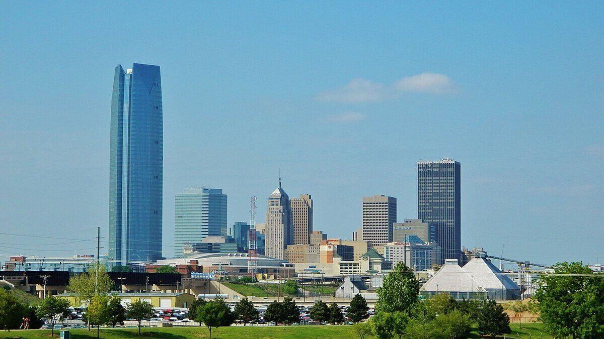 Skyline of downtown Oklahoma City