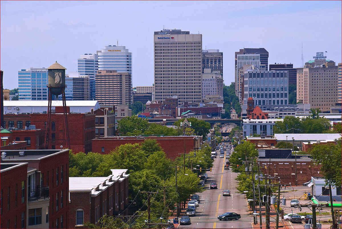 Skyline view of Richmond, VA