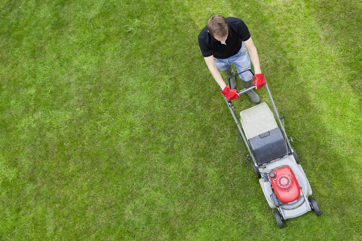 How to mow on a slope or incline